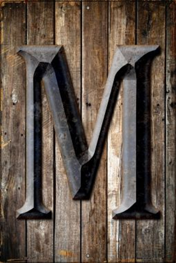 Letter M Novelty Metal Large Parking Sign LGP-1277