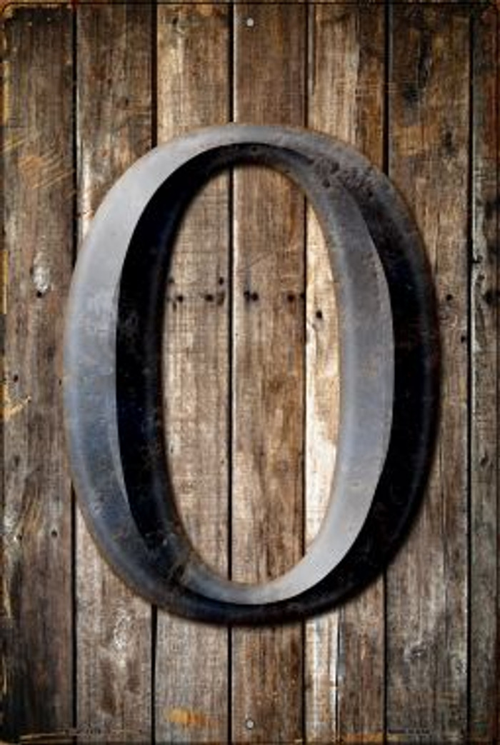 Letter O Novelty Metal Large Parking Sign LGP-1279
