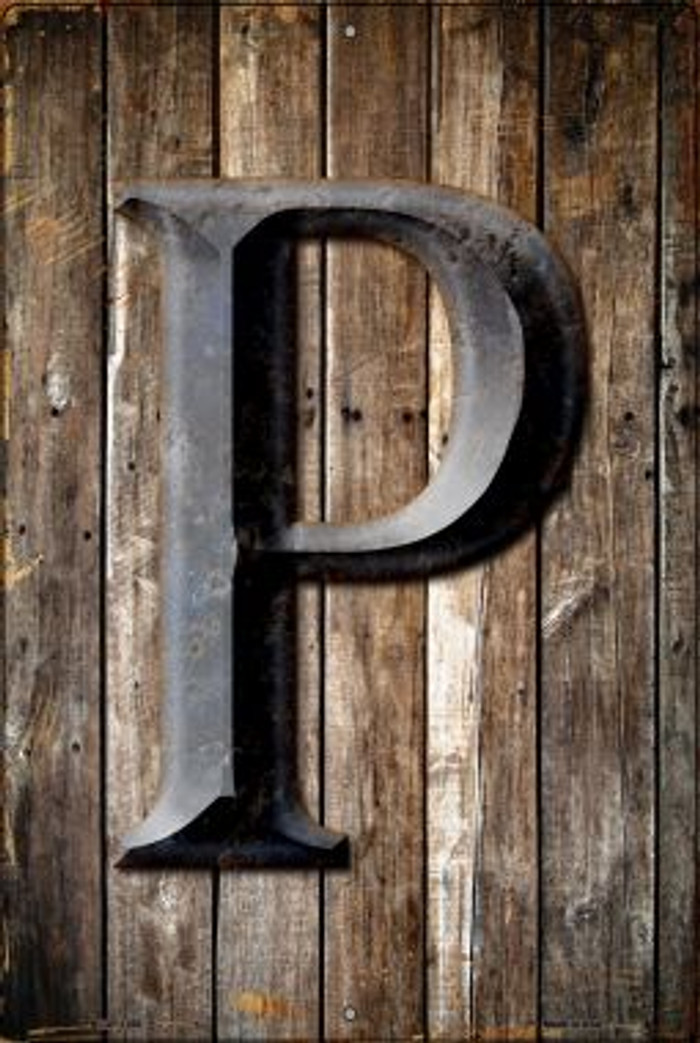 Letter P Novelty Metal Large Parking Sign LGP-1280