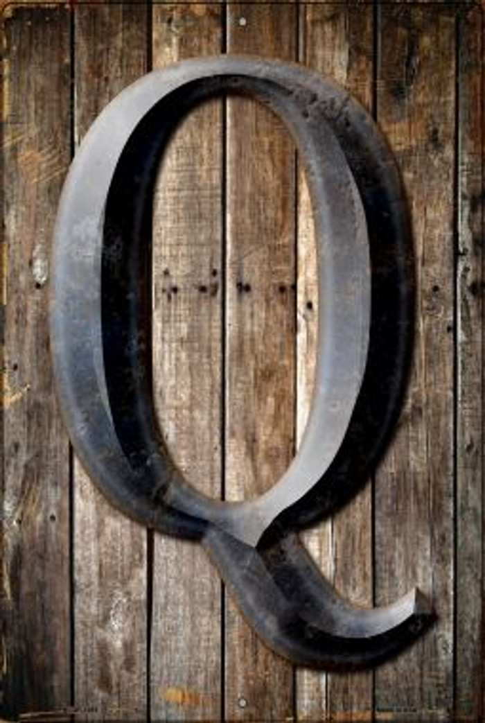 Letter Q Novelty Metal Large Parking Sign LGP-1281