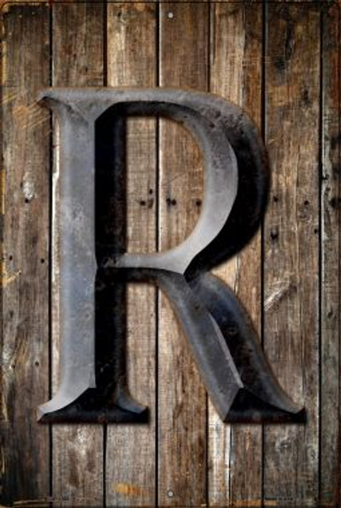 Letter R Novelty Metal Large Parking Sign LGP-1282
