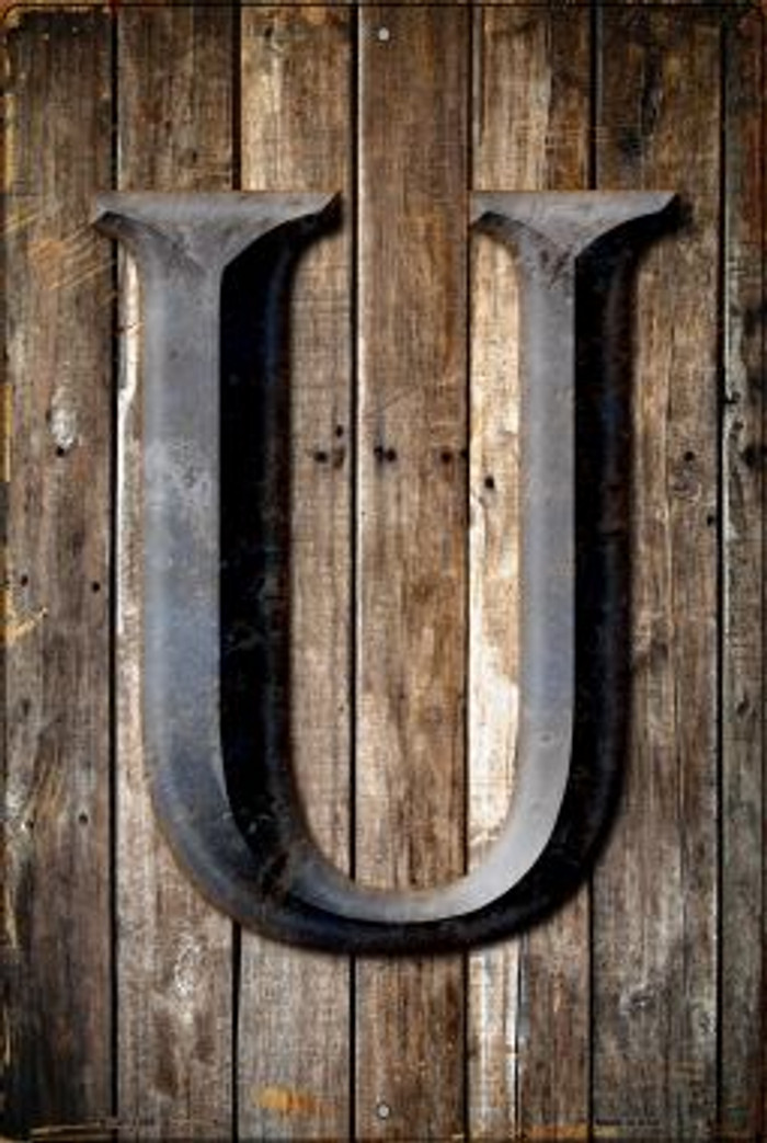 Letter U Novelty Metal Large Parking Sign LGP-1285