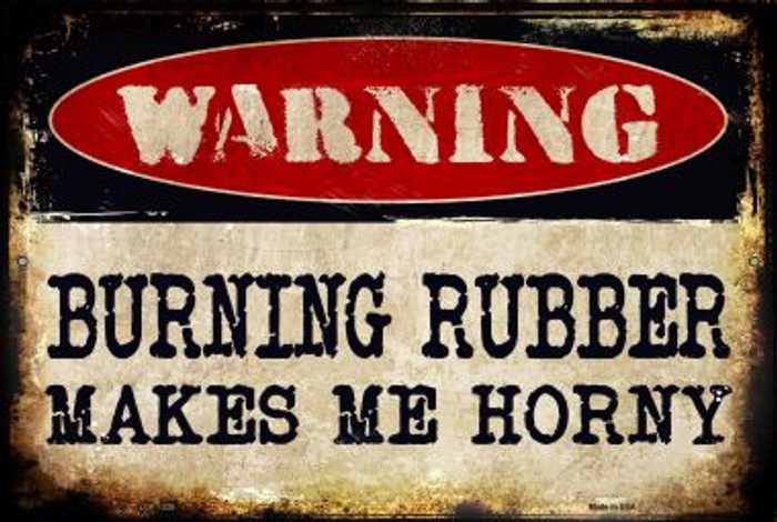 Burning Rubber Novelty Metal Large Parking Sign LGP-1328