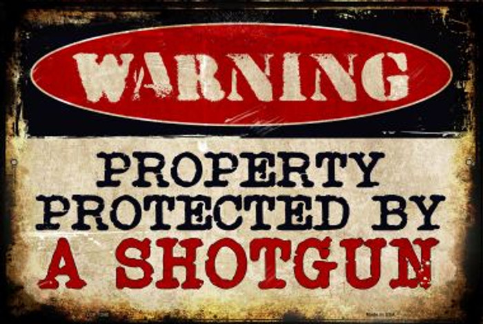 A Shotgun Novelty Metal Large Parking Sign LGP-1340