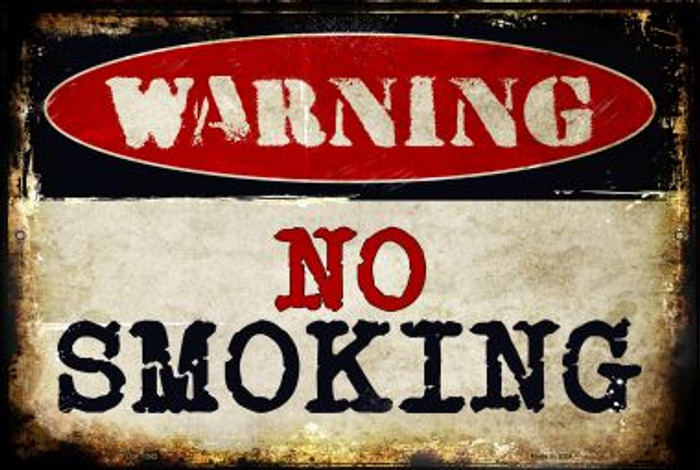 No Smoking Novelty Metal Large Parking Sign LGP-1342