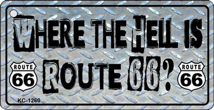 Where Is Route 66 Novelty Metal License Plate