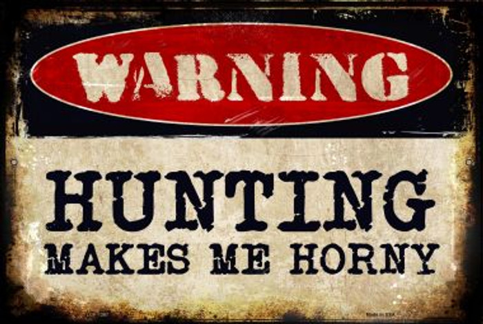 Hunting Novelty Metal Large Parking Sign LGP-1367