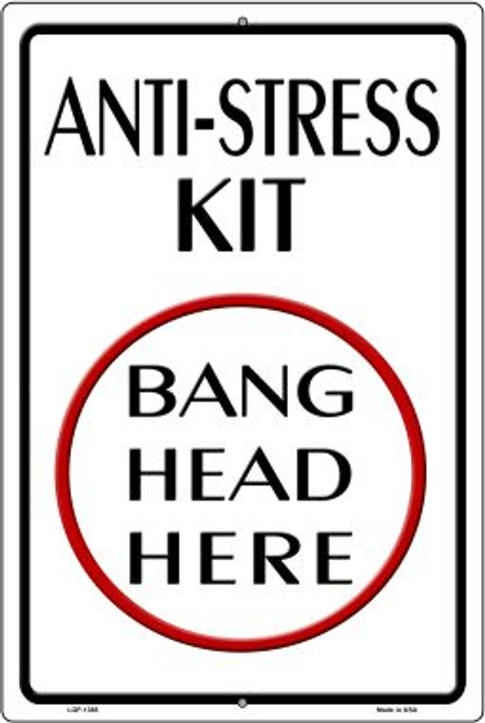 Anti-Stress Kit Novelty Metal Large Parking Sign LGP-1388