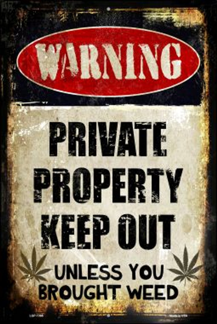 Private Property Novelty Metal Large Parking Sign LGP-1395