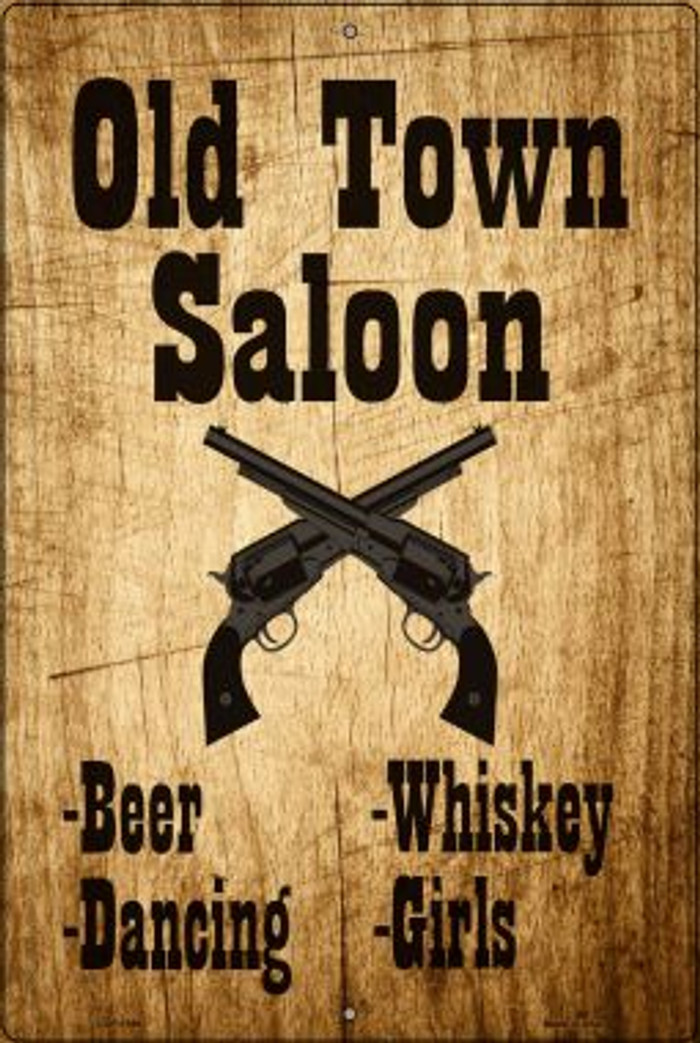 Old Town Saloon Novelty Metal Large Parking Sign LGP-1396