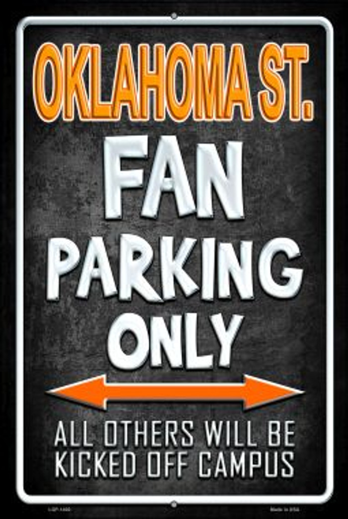 Oklahoma State Novelty Metal Large Parking Sign LGP-1400