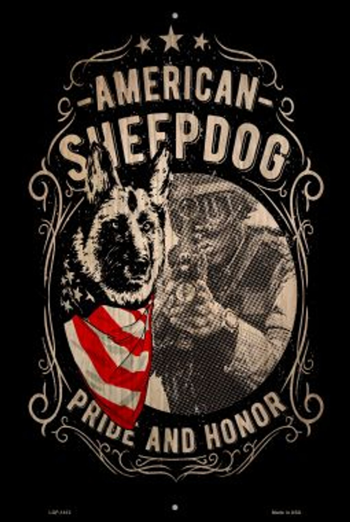 American Sheepdog Novelty Metal Large Parking Sign LGP-1412