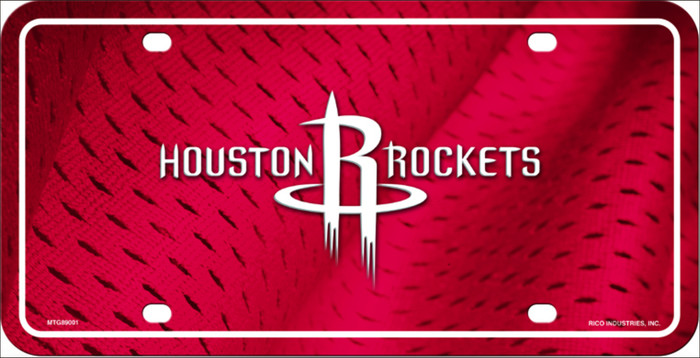 Houston Rockets Novelty Metal License Plate