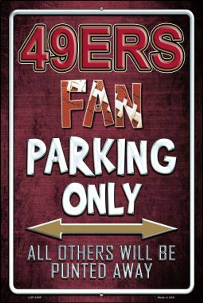 49ers Novelty Metal Large Parking Sign LGP-2008