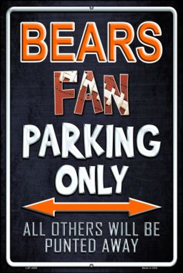 Bears Novelty Metal Large Parking Sign LGP-2009