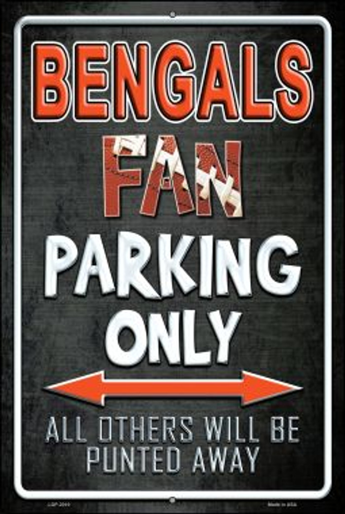 Bengals Novelty Metal Large Parking Sign LGP-2010