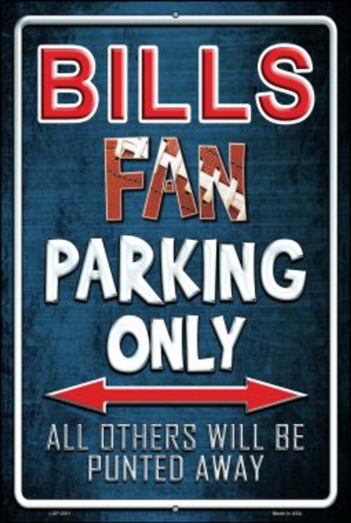 Bills Novelty Metal Large Parking Sign LGP-2011