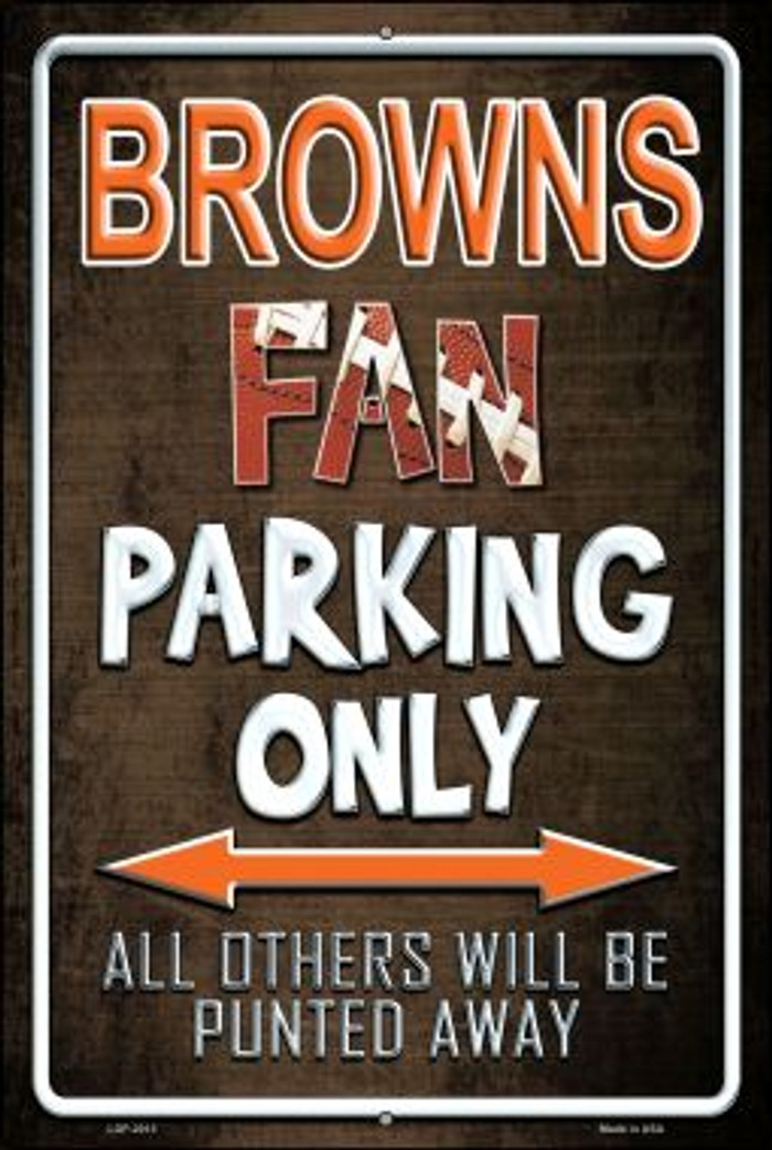 Browns Novelty Metal Large Parking Sign LGP-2013