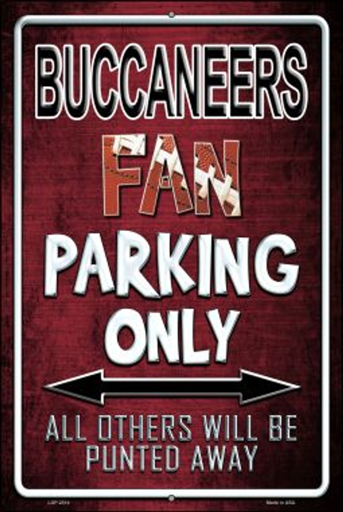 Buccaneers Novelty Metal Large Parking Sign LGP-2014