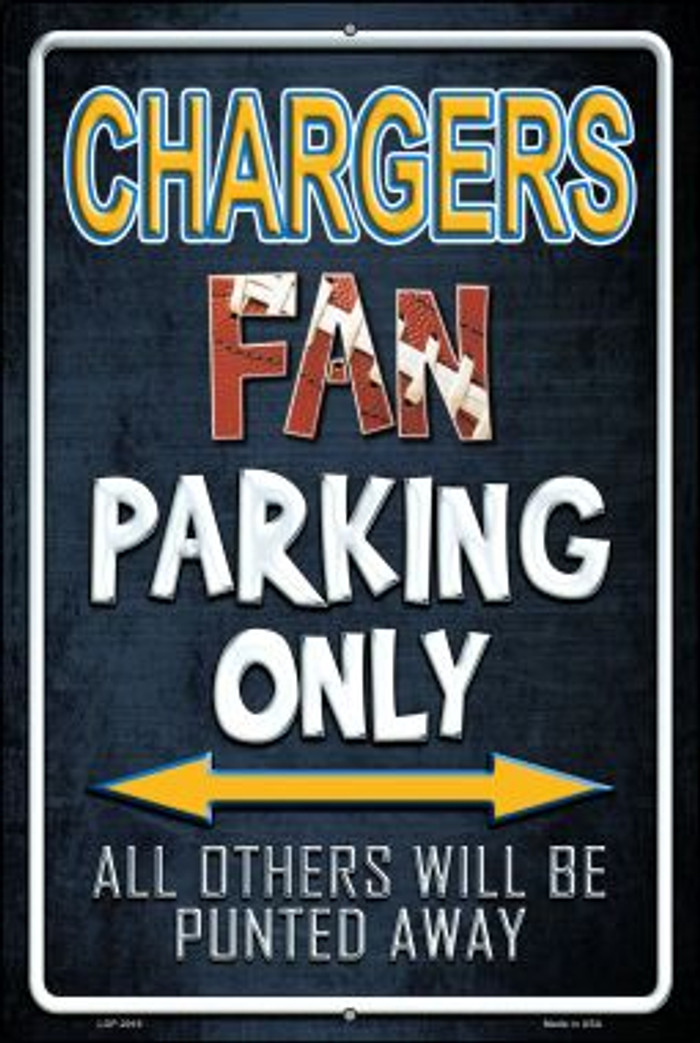Chargers Novelty Metal Large Parking Sign LGP-2016