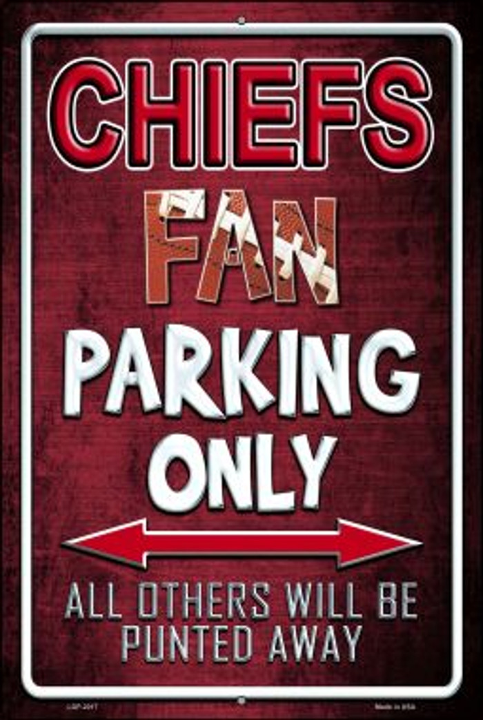 Chiefs Novelty Metal Large Parking Sign LGP-2017