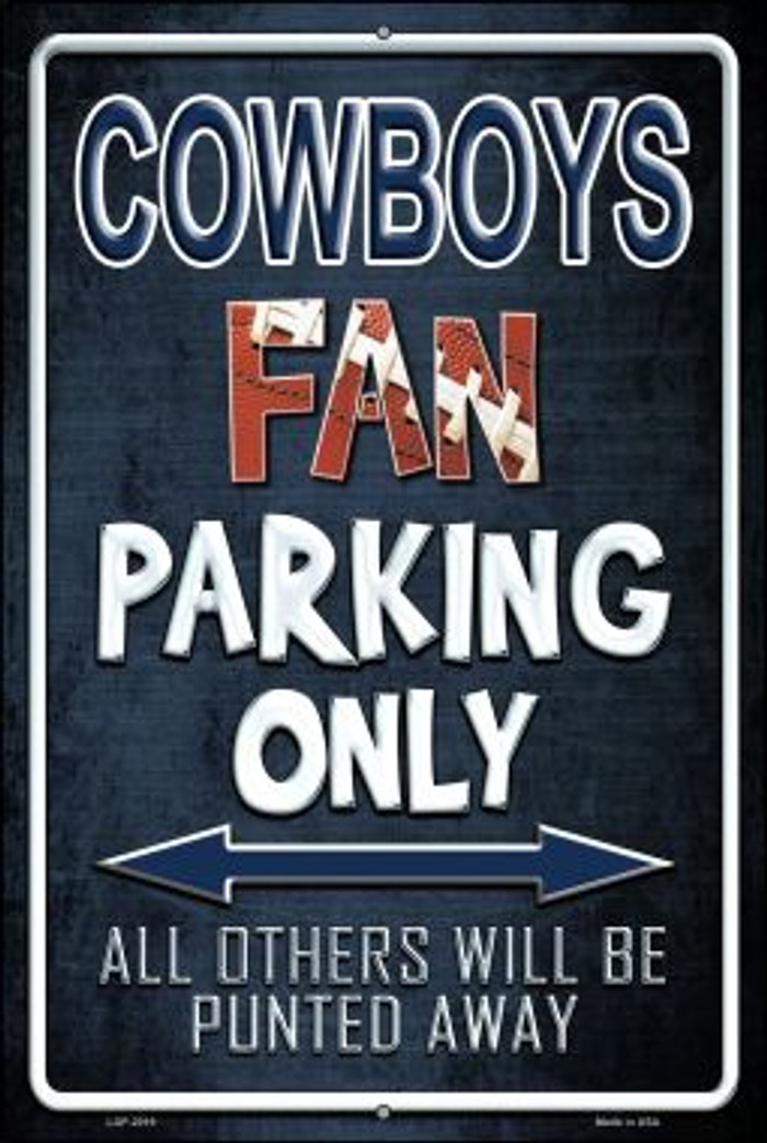 Cowboys Novelty Metal Large Parking Sign LGP-2019