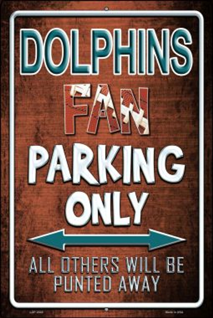 Dolphins Novelty Metal Large Parking Sign LGP-2020