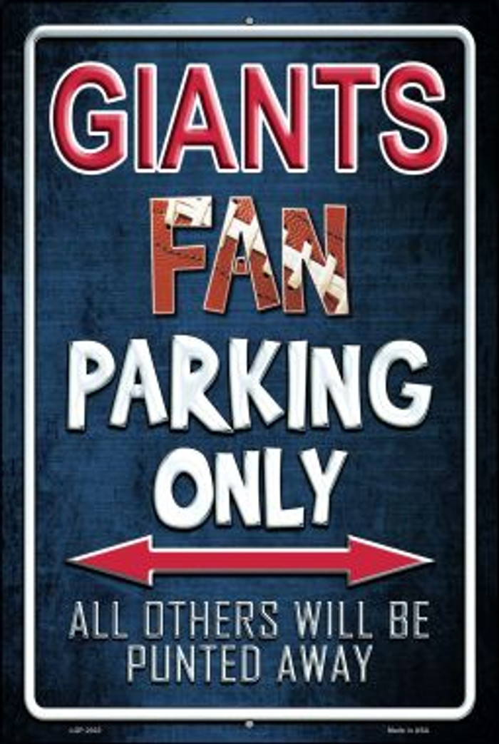Giants Novelty Metal Large Parking Sign LGP-2023