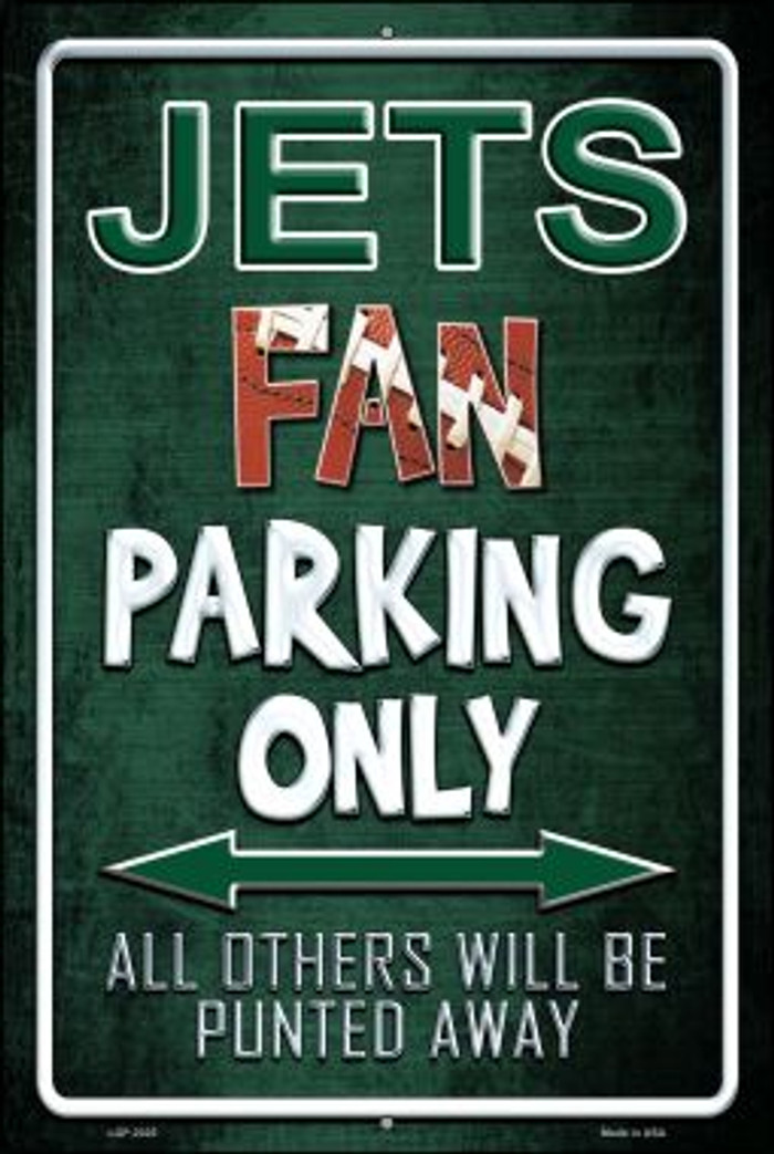 Jets Novelty Metal Large Parking Sign LGP-2025