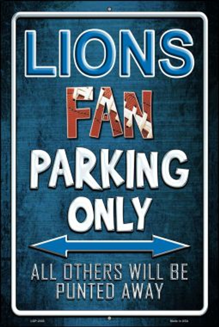 Lions Novelty Metal Large Parking Sign LGP-2026