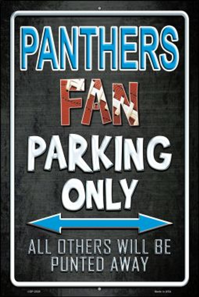 Panthers Novelty Metal Large Parking Sign LGP-2028