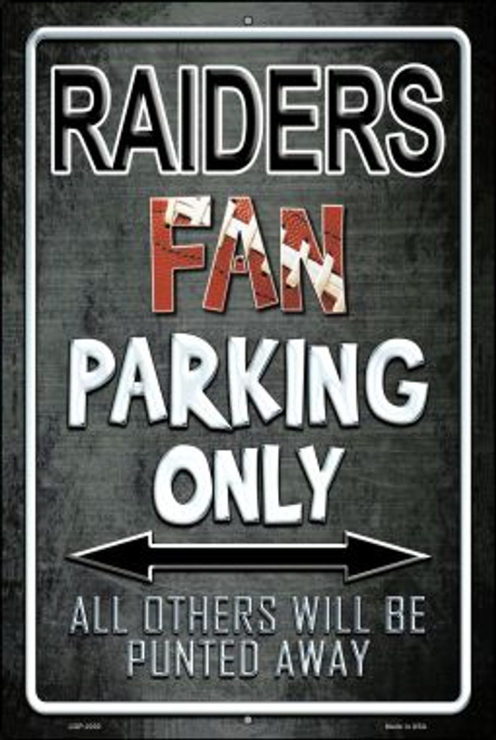 Raiders Novelty Metal Large Parking Sign LGP-2030