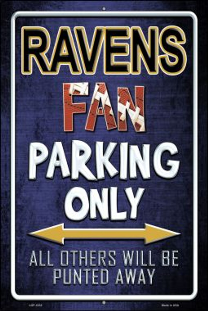 Ravens Novelty Metal Large Parking Sign LGP-2032