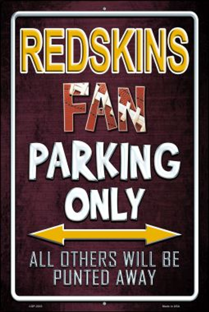 Redskins Novelty Metal Large Parking Sign LGP-2033