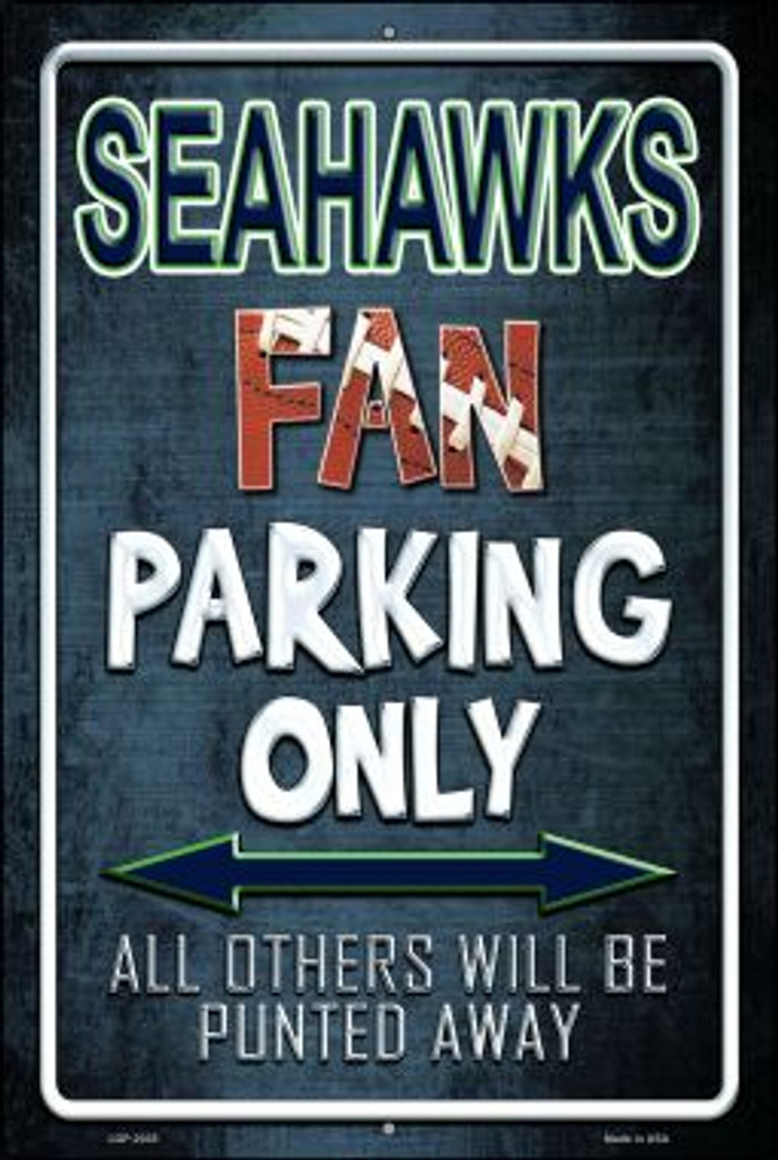 Seahawks Novelty Metal Large Parking Sign LGP-2035