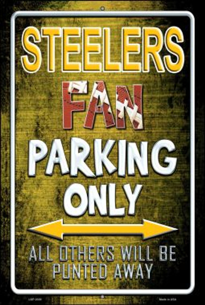 Steelers Novelty Metal Large Parking Sign LGP-2036
