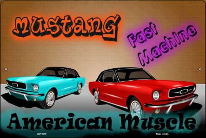 American Muscle Mustang Novelty Metal Large Parking Sign LGP-2072