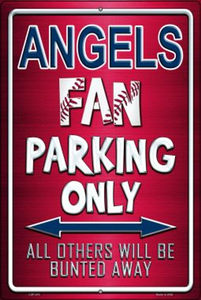 Angels Novelty Metal Large Parking Sign LGP-210