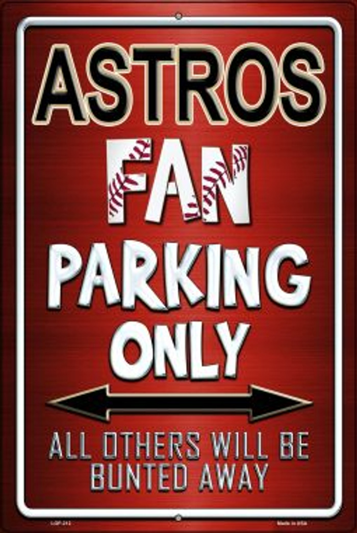 Astros Novelty Metal Large Parking Sign LGP-212