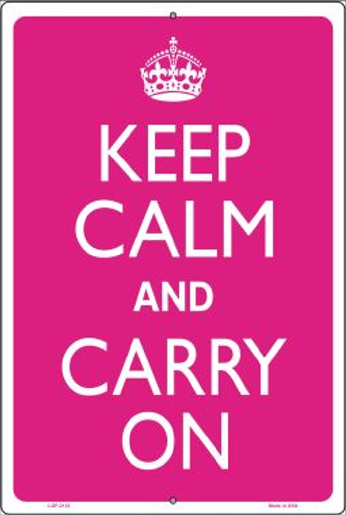 Keep Calm And Carry On Novelty Metal Large Parking Sign LGP-2122