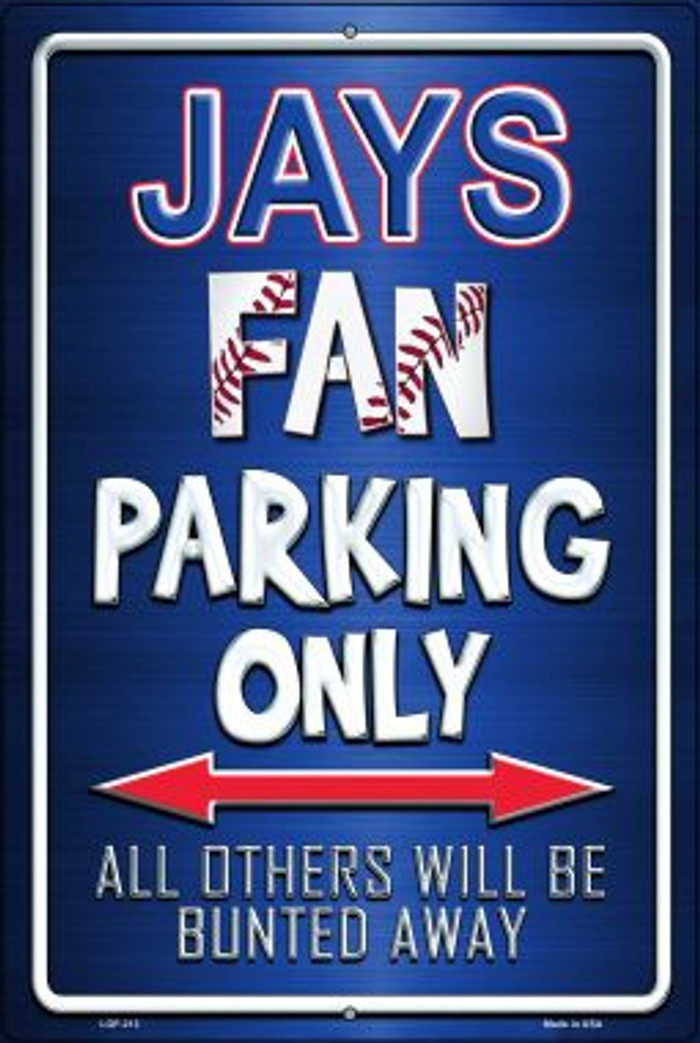 Jays Novelty Metal Large Parking Sign LGP-213