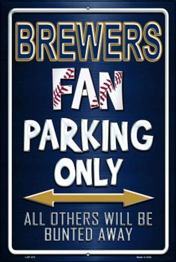 Brewers Novelty Metal Large Parking Sign LGP-215