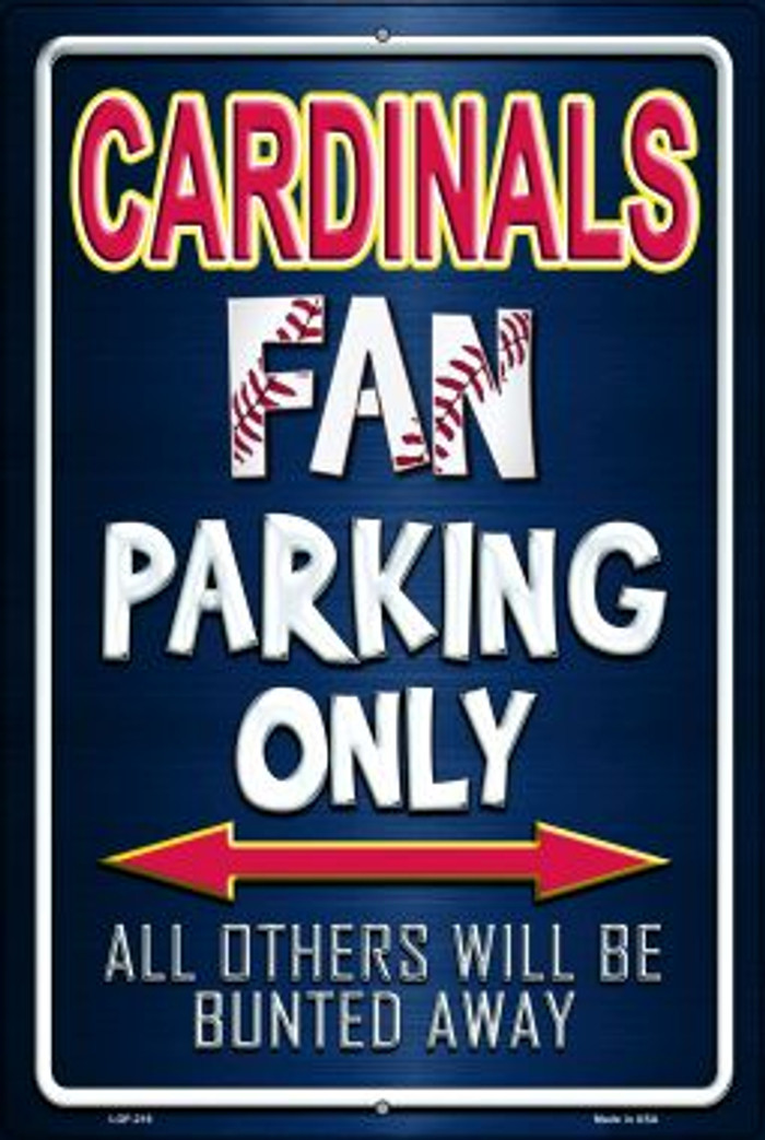 Cardinals Novelty Metal Large Parking Sign LGP-216