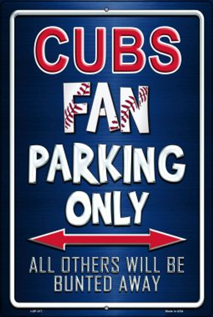 Cubs Novelty Metal Large Parking Sign LGP-217