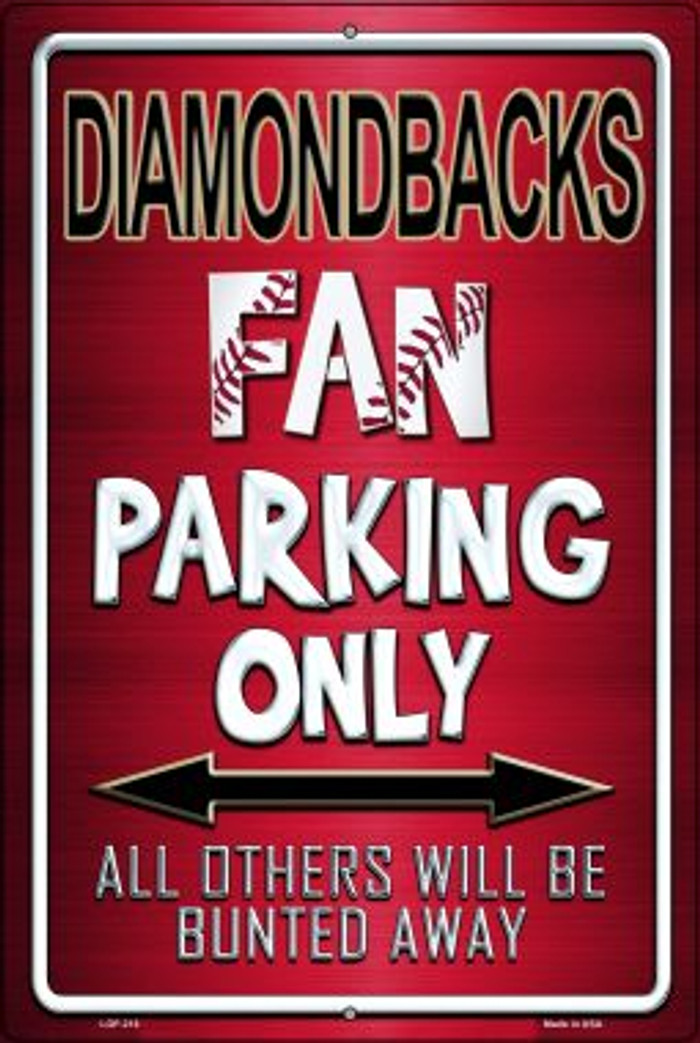 Diamondbacks Novelty Metal Large Parking Sign LGP-218