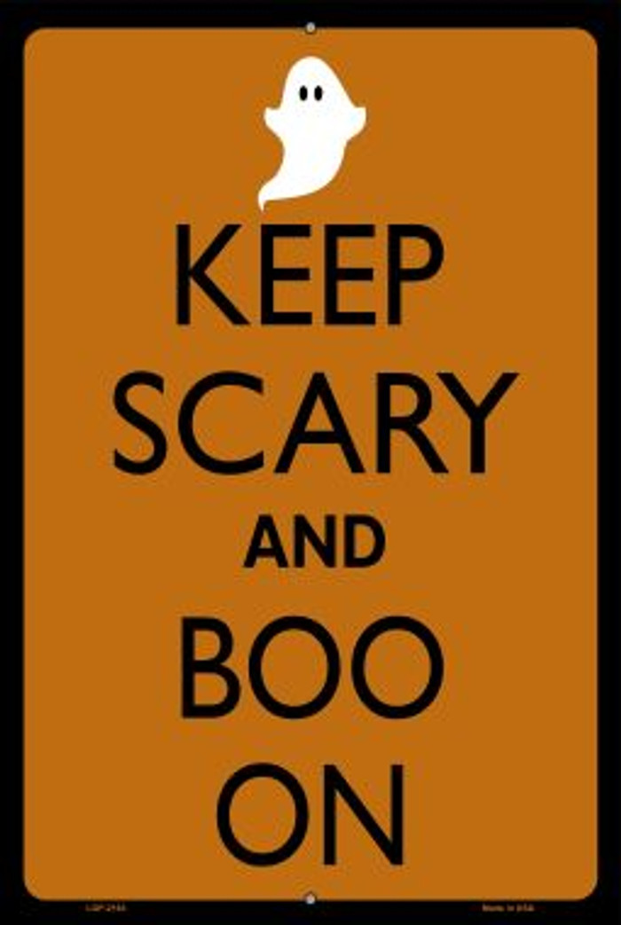 Keep Calm And Boo On Novelty Metal Large Parking Sign LGP-2193