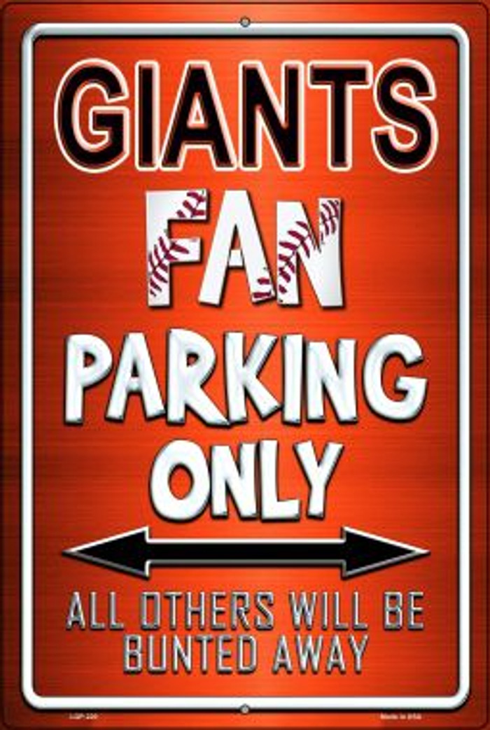 Giants Novelty Metal Large Parking Sign LGP-220