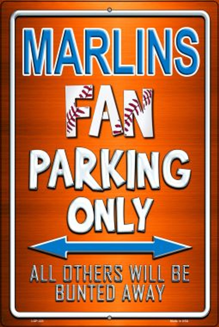 Marlins Novelty Metal Large Parking Sign LGP-223