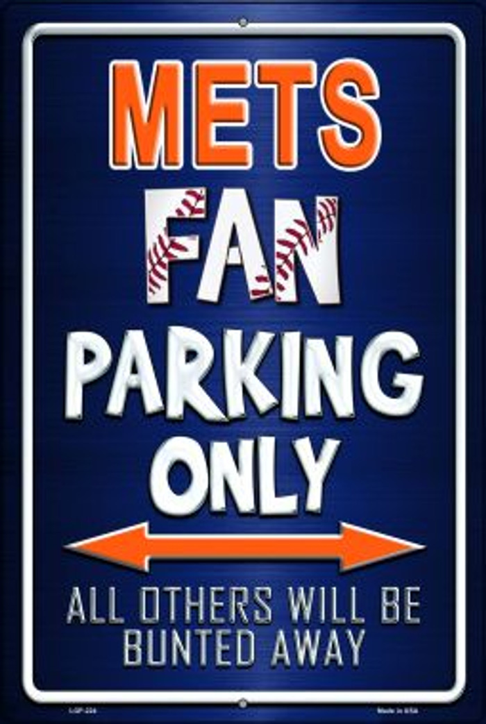 Mets Novelty Metal Large Parking Sign LGP-224
