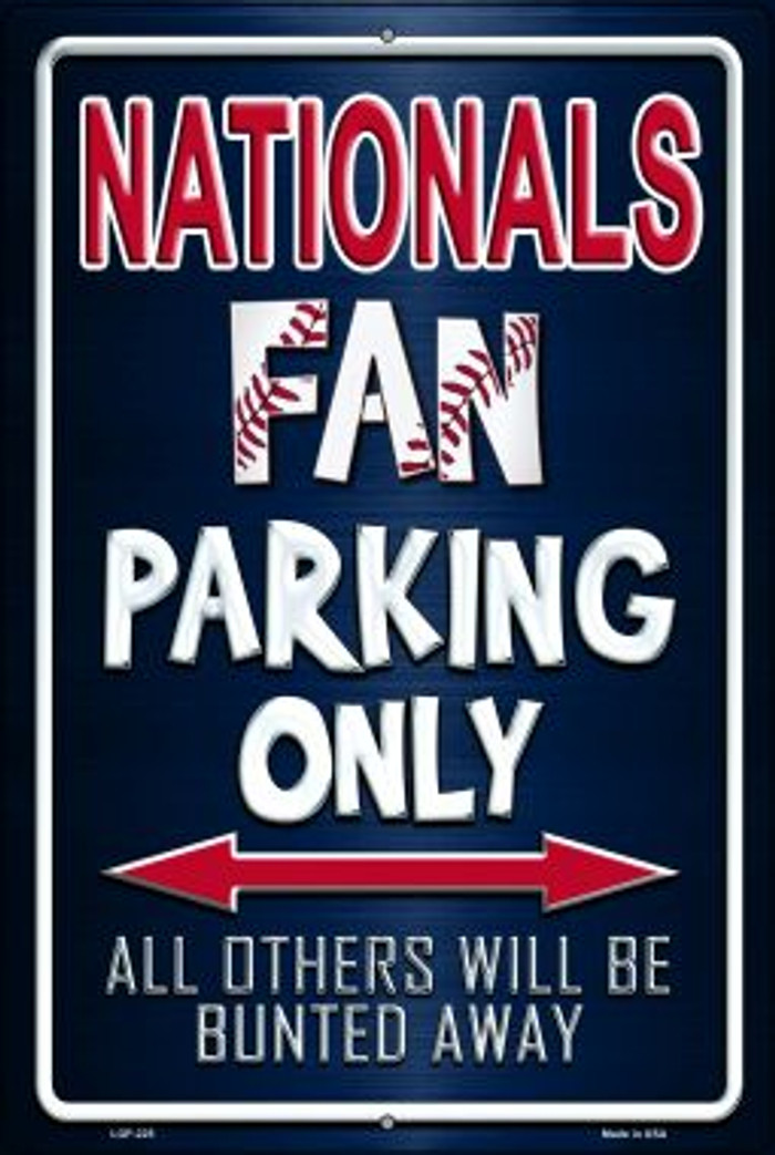 Nationals Novelty Metal Large Parking Sign LGP-225